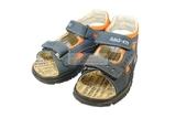 Детские сандалии Котофей 522053-22 из натуральной кожи, для мальчика, сине-оранжевые. Изображение 8 из 10.