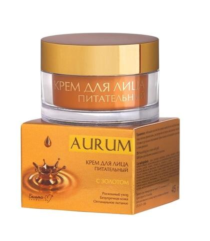 Крем питательный для лица с золотом , 45 гр ( Aurum )