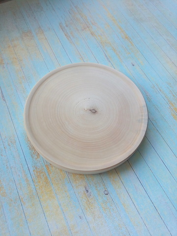 056-7996 Тарелка, деревянная 15 см.