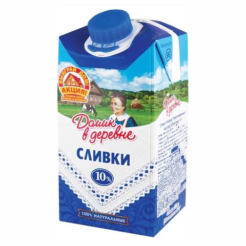 Сливки ДОМИК В ДЕРЕВНЕ 10% 0,47 л т/п РОССИЯ