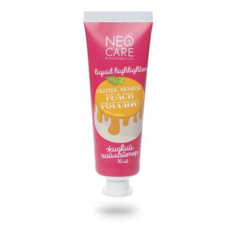 Neo Care Хайлайтер Glitter mousse peach pudding, 30мл
