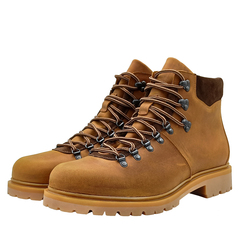 680478 ботинки мужские охра больших размеров марки Делфино