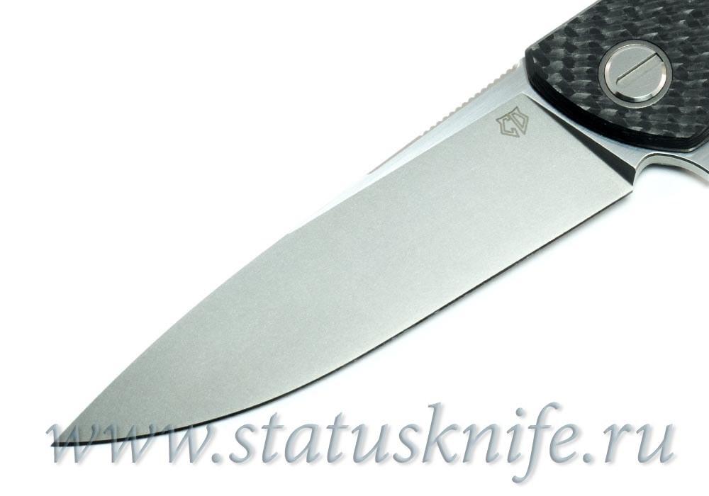 Нож Широгоров Хати CF 3D S90V Кастом Дивижн - фотография