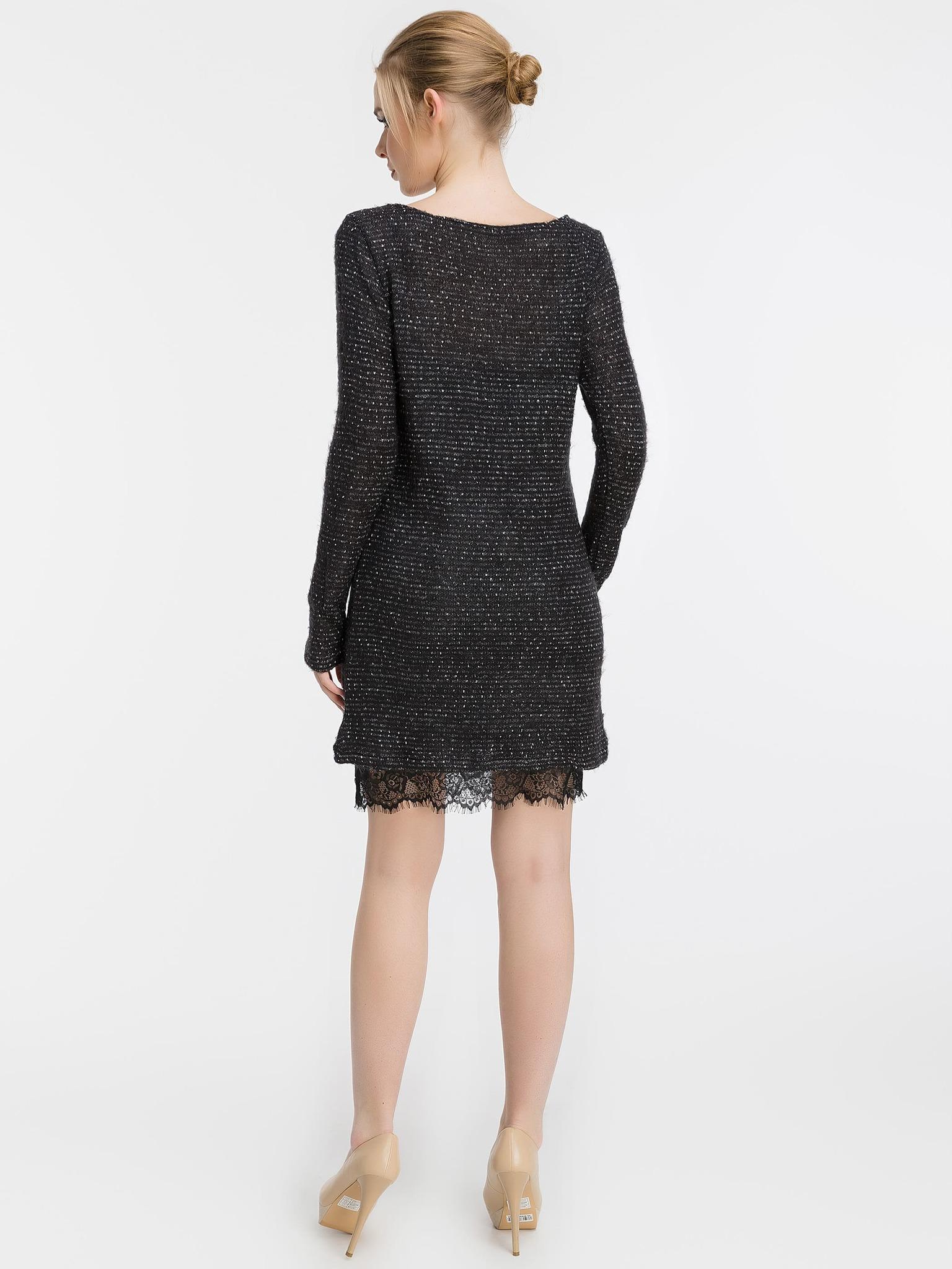 Платье-двойка. Трикотажное платье и платье-майка из шелка, черное