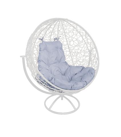 Кресло вращающееся Milagro white/grey