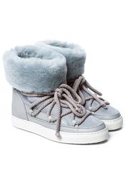 Высокие комбинированные кеды INUIKII Sneaker Classic Light Grey High на меху
