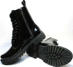 Зимние ботинки на шнуровке женские Ari Andano 740 All Black.