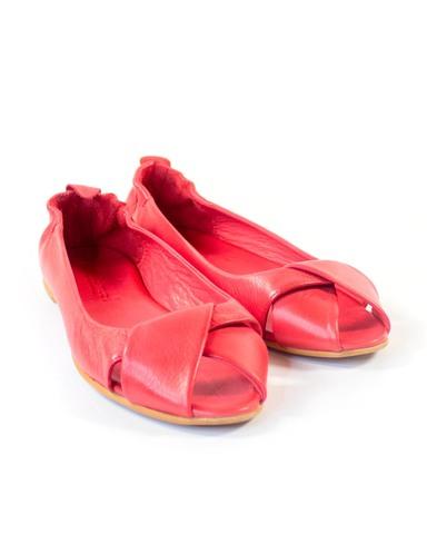 красные балетки Mario Muzi
