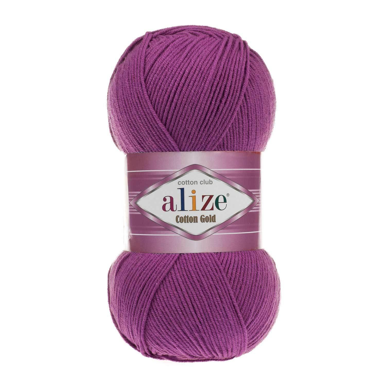 Пряжа Alize Cotton Gold сливовый 122