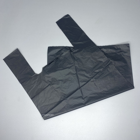 Пакет-майка 35х55 см (100 шт.) черный