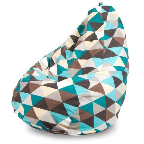 Кресло-мешок груша  L, Жаккард Ромб