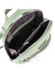 Рюкзак женский жеская форма салатового цвета искусственая кожа