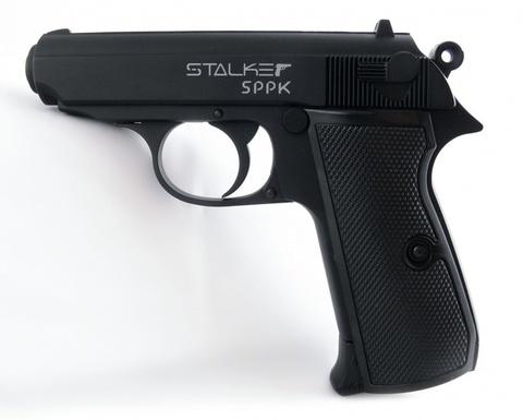 Пистолет пневматический Stalker SPPK Blowback (Walther PPK/S, металл) 120 м/с