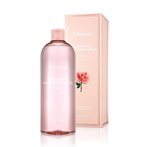 JMsolution Glow Luminous Flower Toner XL Rose Тонер для лица с экстрактом розы