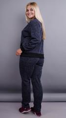 Юля. Ангоровый костюм большие размеры. Синий.