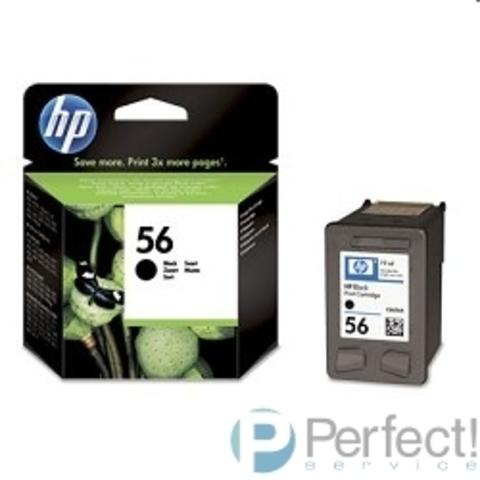 HP C6656AE Картридж №56, Black {DJ 5550/5150/5652/7150/7350/7550/7260/2110/2210/oj 6110, Black (19ml)}