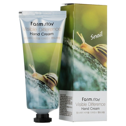 FarmStay Visible Difference Snail Hand Cream крем для рук с натуральным экстрактом улитки