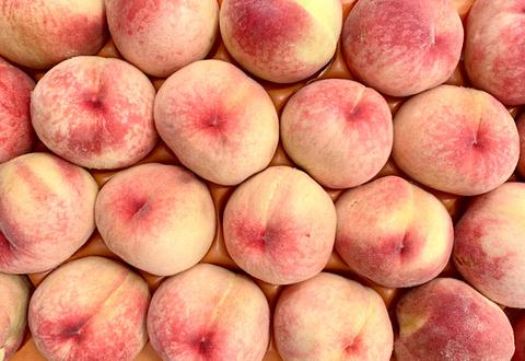 Персики Белый Лебедь, 1 кг