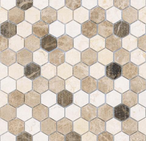 Мозаика Pietra Mix 1 MAT hex 18x30x6 285х305