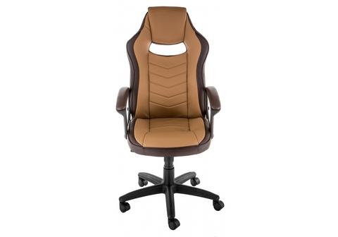 Офисное кресло для персонала и руководителя Компьютерное Gamer коричневое 62*62*107 Черный /Коричневый / бежевый