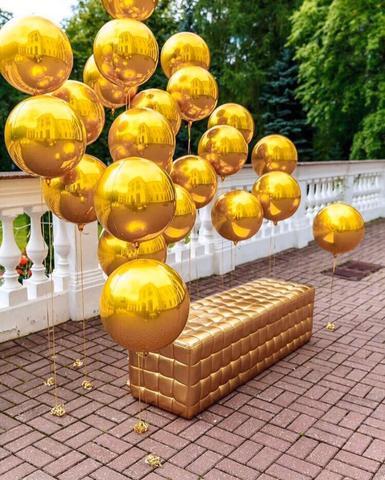 Фотозона сфера gold