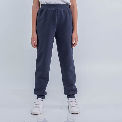 Warm trousers with pocket for teens - Graphite