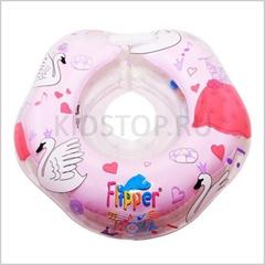 Музыкальный круг Лебединное озеро розовый