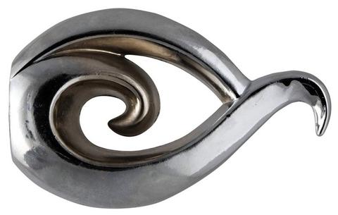 Бутон Серебро глянец наконечники на карниз кованый d 16