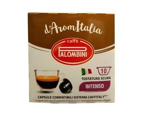Кофе в капсулах Palombini Intenso, 10 капсул для кофемашин Caffitaly