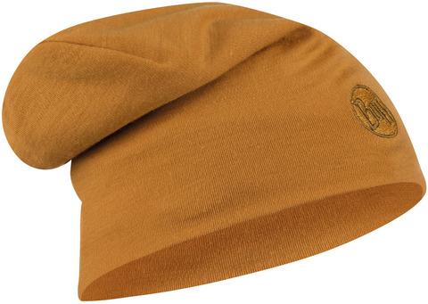 Теплая шерстяная шапка-бини Buff Hat Wool Heavyweight Solid Camel фото 1