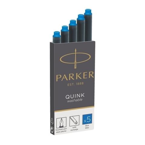 Parker Чернила (картридж) смывающиеся, синий, 5 шт в упаковке