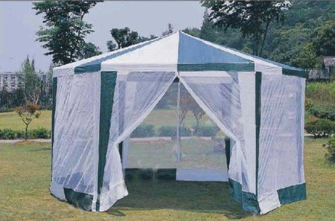 Садовый тент шатер шестигранник Green Glade зеленый 1001
