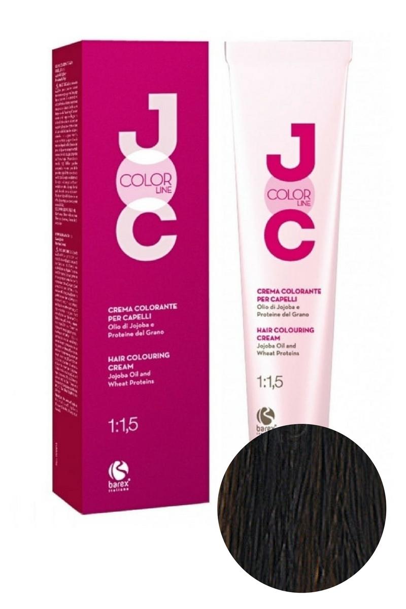 Крем-краска для волос 4.0 каштановый JOC COLOR, Barex