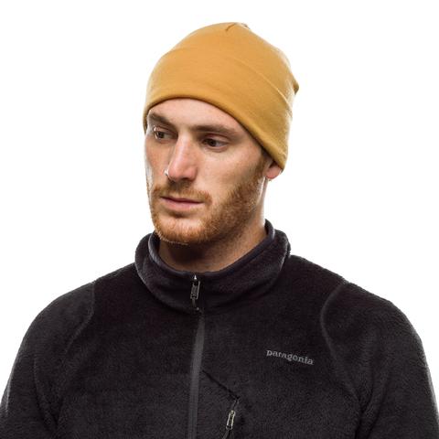 Теплая шерстяная шапка-бини Buff Hat Wool Heavyweight Solid Camel фото 2