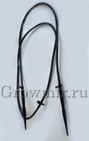 Капельницы - спицы 2 штуки прямые с адаптером и трубкой для микрополива