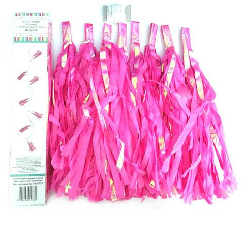 Гирлянда Тассел с перламутром, розовая