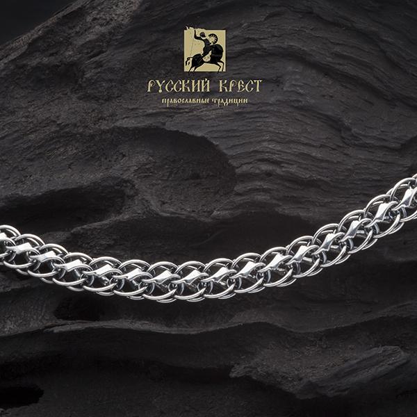 Серебряная цепь  на шею