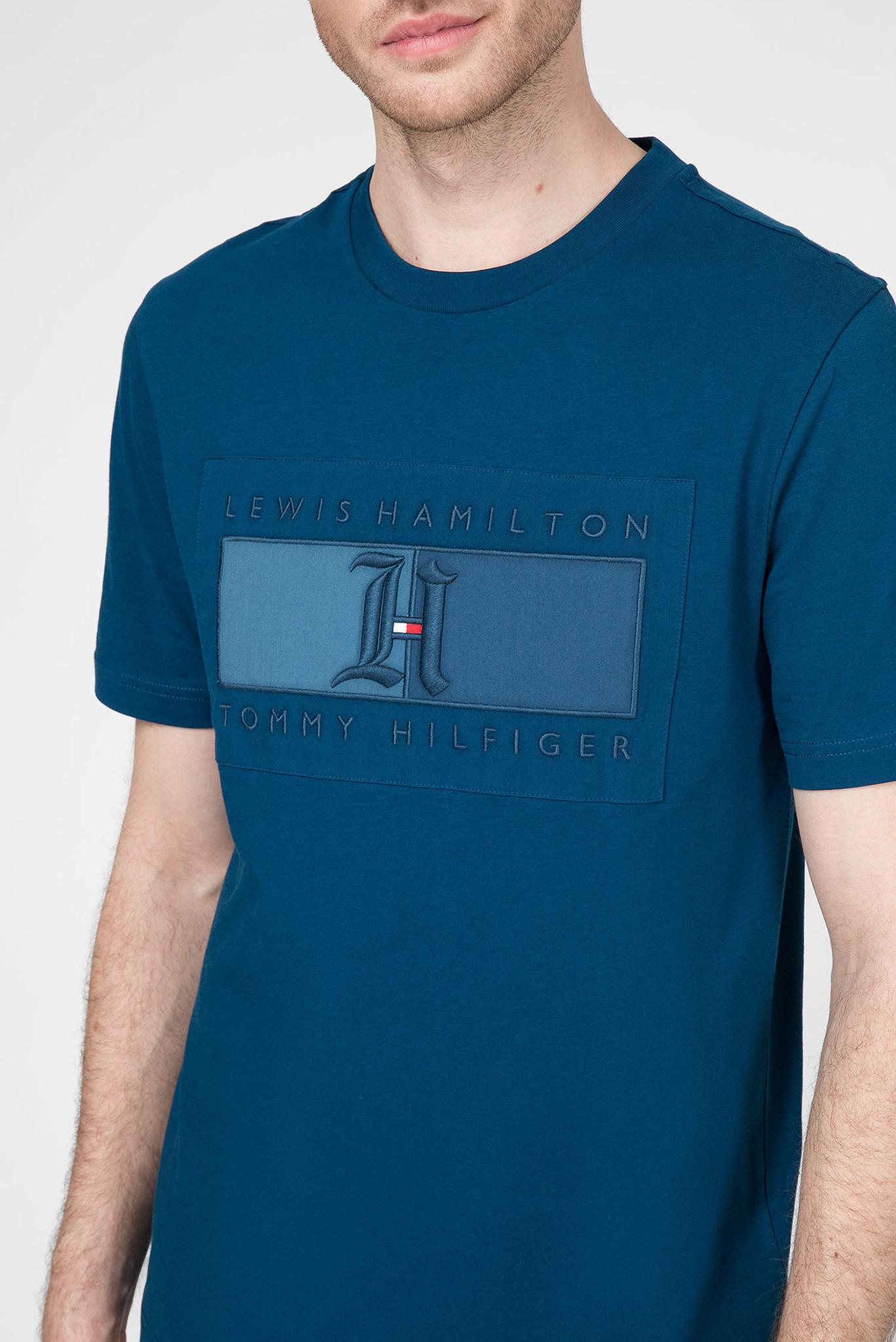 Мужская синяя футболка Lewis Hamilton Tommy Hilfiger