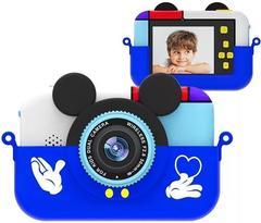 детский цифровой фотоаппарат микки маус синий