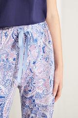 Довгі бавовняні піжамні штани з принтом