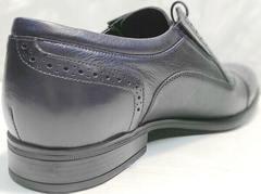 Мужские свадебные туфли классические Ikoc 3805-4 Ash Blue Leather.
