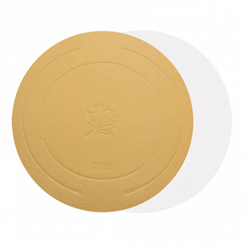 Подложка для торта d=42 см (3,2мм) золото/белый