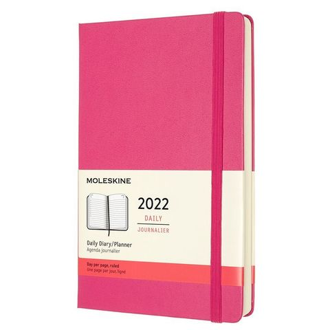 Ежедневник Moleskine (DHD1312DC3) Classic Large 130х210мм датир.12мес 400стр. фуксия
