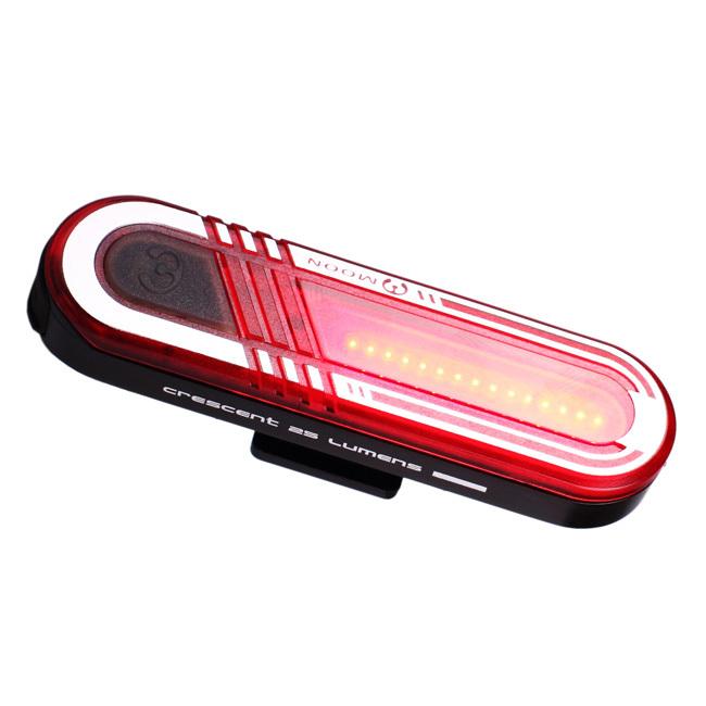 Фонарь задний Moon CRESCENT 15 диод 6 реж.blk USB_x000D_ яркая красная светодиодная панель 50 люменов, 6 функций, зарядка от USB, цвет черный