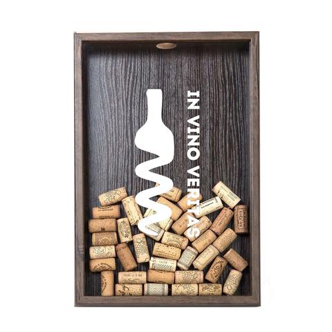 Копилка для винных пробок In Vino Veritas (белая надпись) ВЕНГЕ