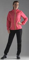 Беговой костюм с капюшоном Nordski Run Pink-Yellow женский