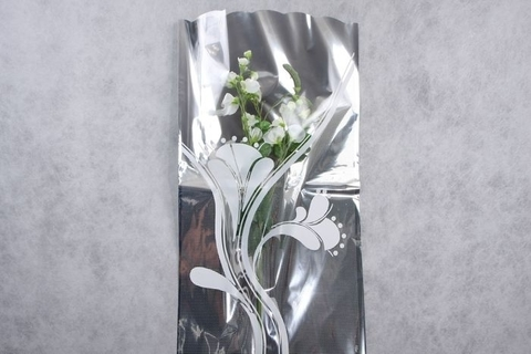 Пакет цветочный Рукав металл/рисунок 40/80 см (упаковка 50 шт.)