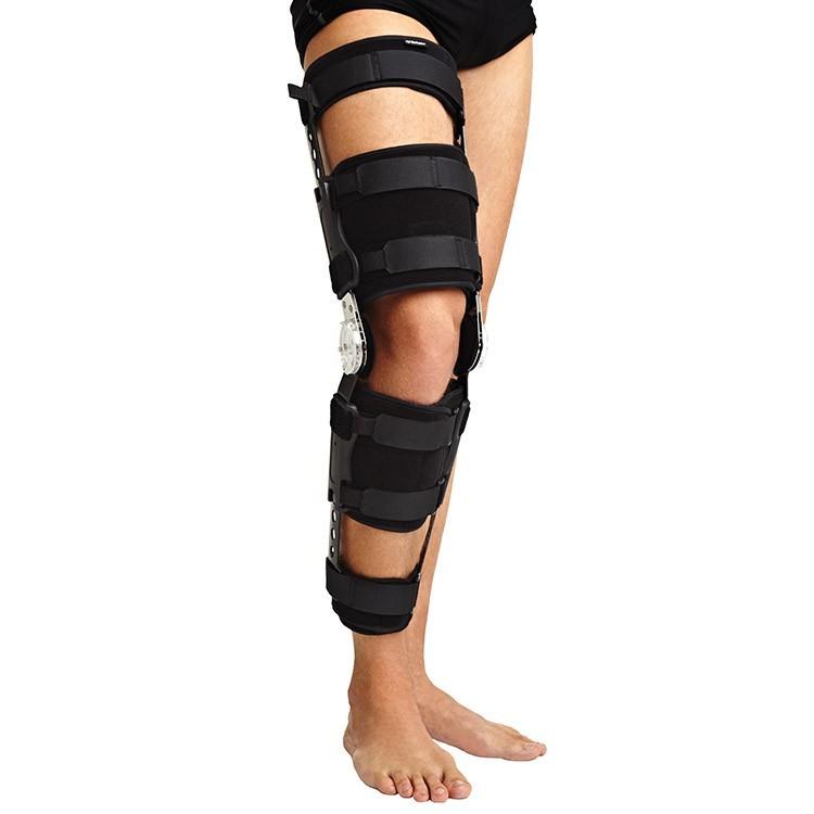 Брейсы (с регулировкой углов сгибания/разгибания) Ортез (брейс) на коленный сустав с ребрами жесткости и регулятором угла сгибания 11.jpg