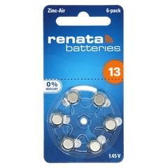 Батарейки воздушно-цинковые Renata ZA 13 / 6 BL (AG 5)
