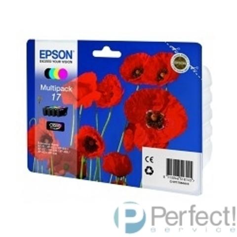 EPSON C13T17064A10  17 CMYK EPSON  для XP-33/103/203/207/303/306/406 (4 картриджа - CMYK) HAV3-P (Claria Home 17) (cons ink)